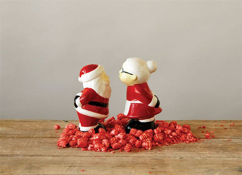 Santa & Mrs. Claus Salt & Pepper Shakers, Set of 2