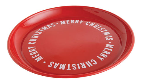 """Merry Christmas"" Round Enameled Platter"