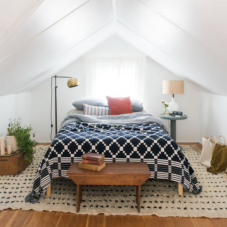 Iconic Schoolhouse: Winter + Summer Coverlet