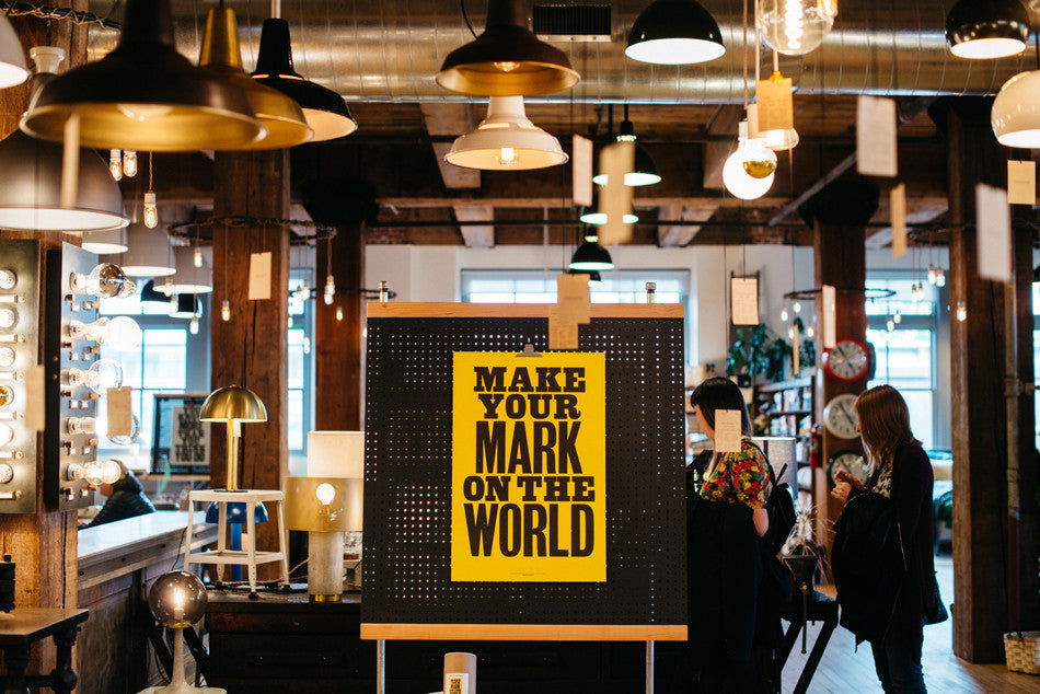 Start With Yes: Anthony Burrill Visits Schoolhouse