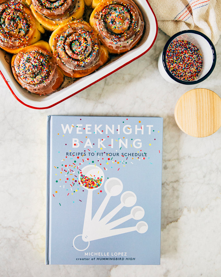 Weeknight Baking: Confetti Cinnamon Rolls with Hummingbird High