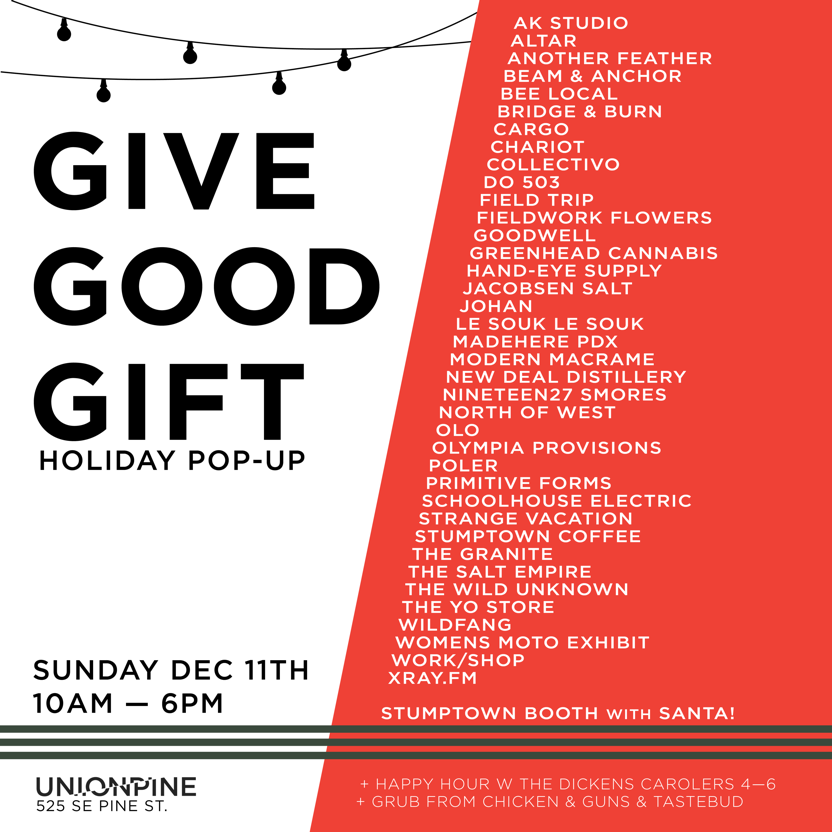Schoolhouse Pop-Up: Give Good Gift