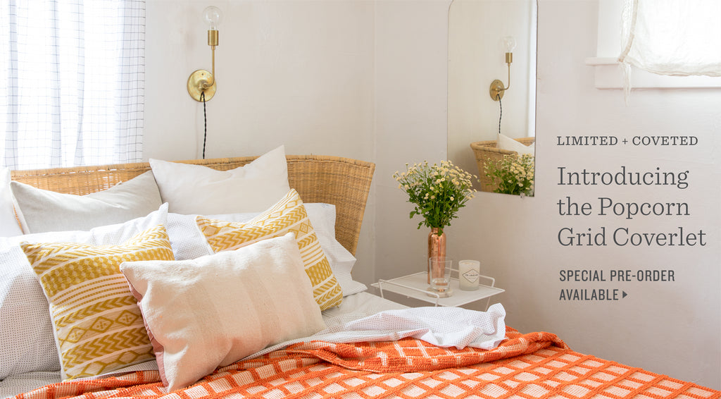 Presale: Popcorn Grid Coverlet