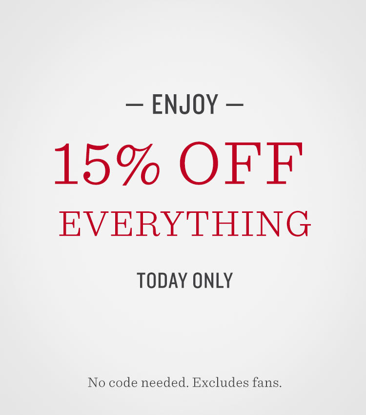 15% off today only