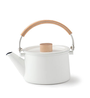 Enamel + Wood Kettle