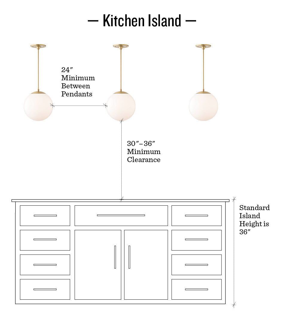 pendant lights for kitchen island spacing how to hang pendants amp chandeliers schoolhouse 101 27371