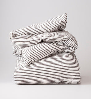Painterly Stripe Duvet Cover
