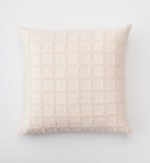Popcorn Grid Euro Pillow Sham - Natural