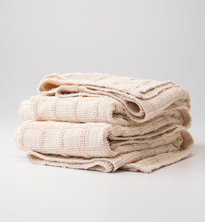 Popcorn Grid Coverlet - Natural