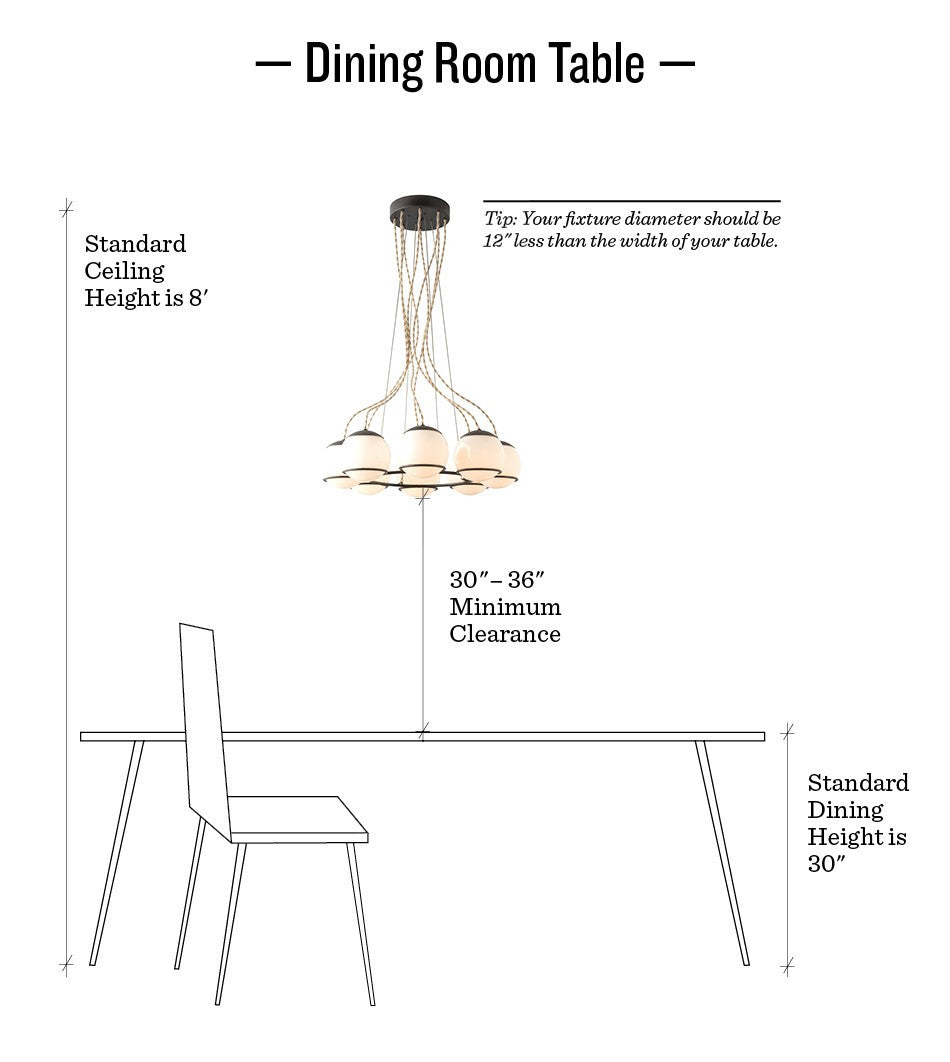 How to hang pendants chandeliers schoolhouse 101 schoolhouse there are so many different styles and types of light fixtures that work in a dining room it really all boils down to personal preference arubaitofo Images