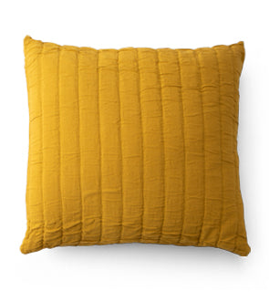 Channeled Cotton Sham - Ochre