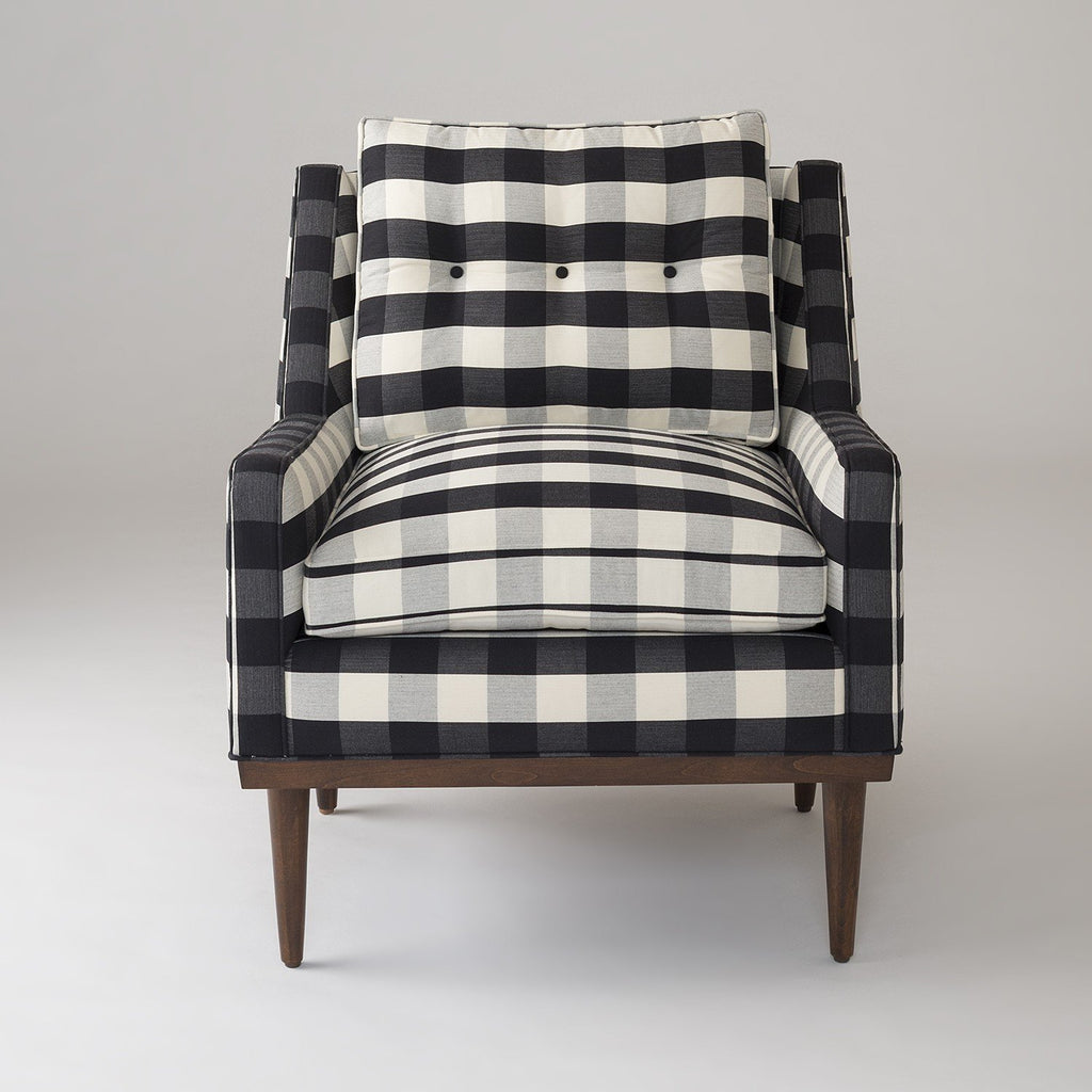 Merveilleux Jack Chair   Windowpane Plaid