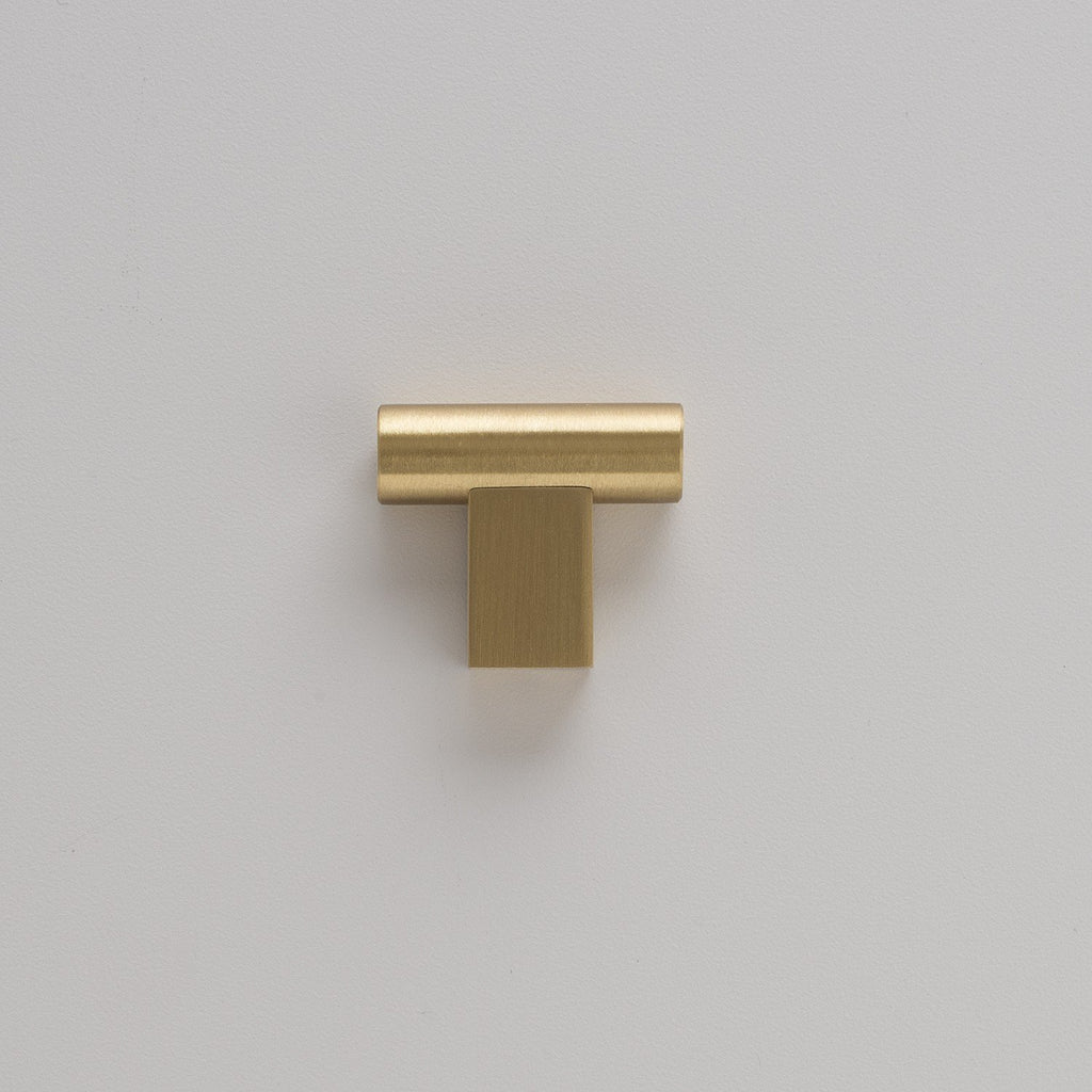T Pull - Natural Brass