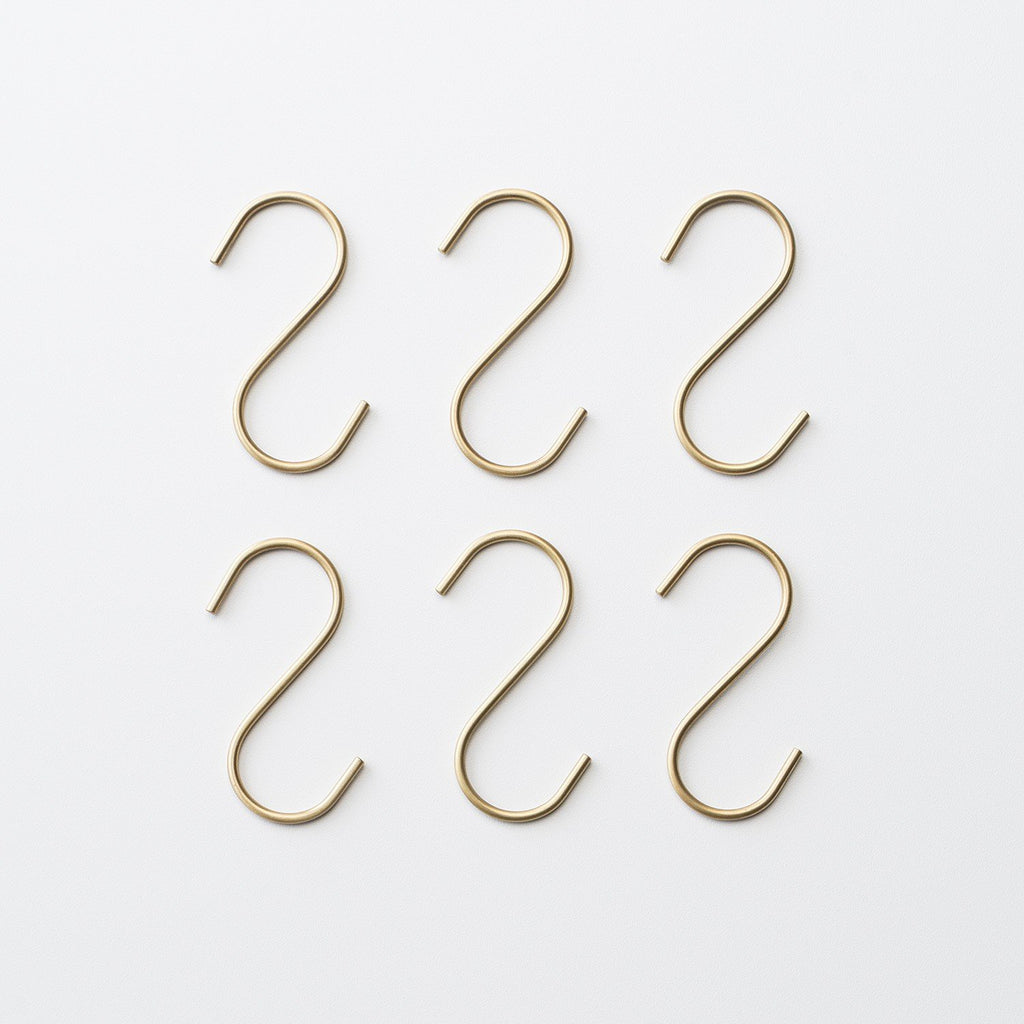 Brass S Hooks Domestic Utility - Schoolhouse Electric & Supply Co.