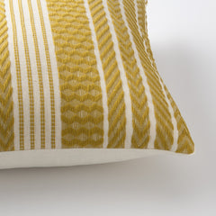 Handwoven Mayan Throw Pillow - Mustard