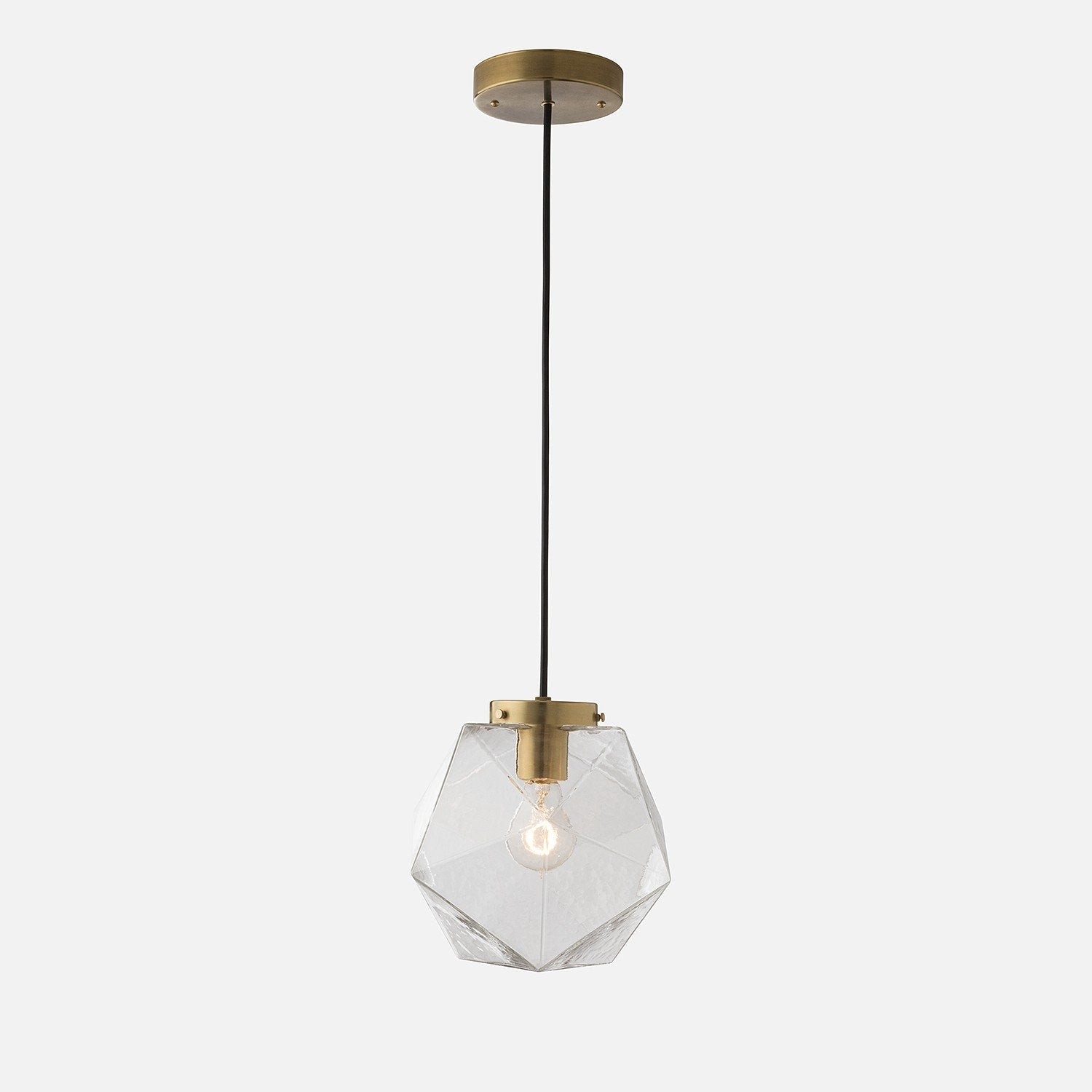 Fuller Pendant Clear Glass Schoolhouse Electric