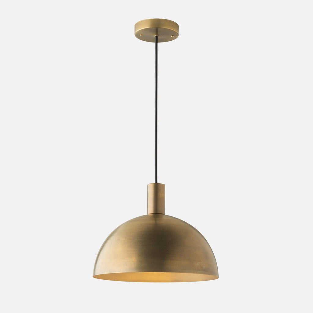 Shelby Mod Pendant Natural Brass Schoolhouse Electric