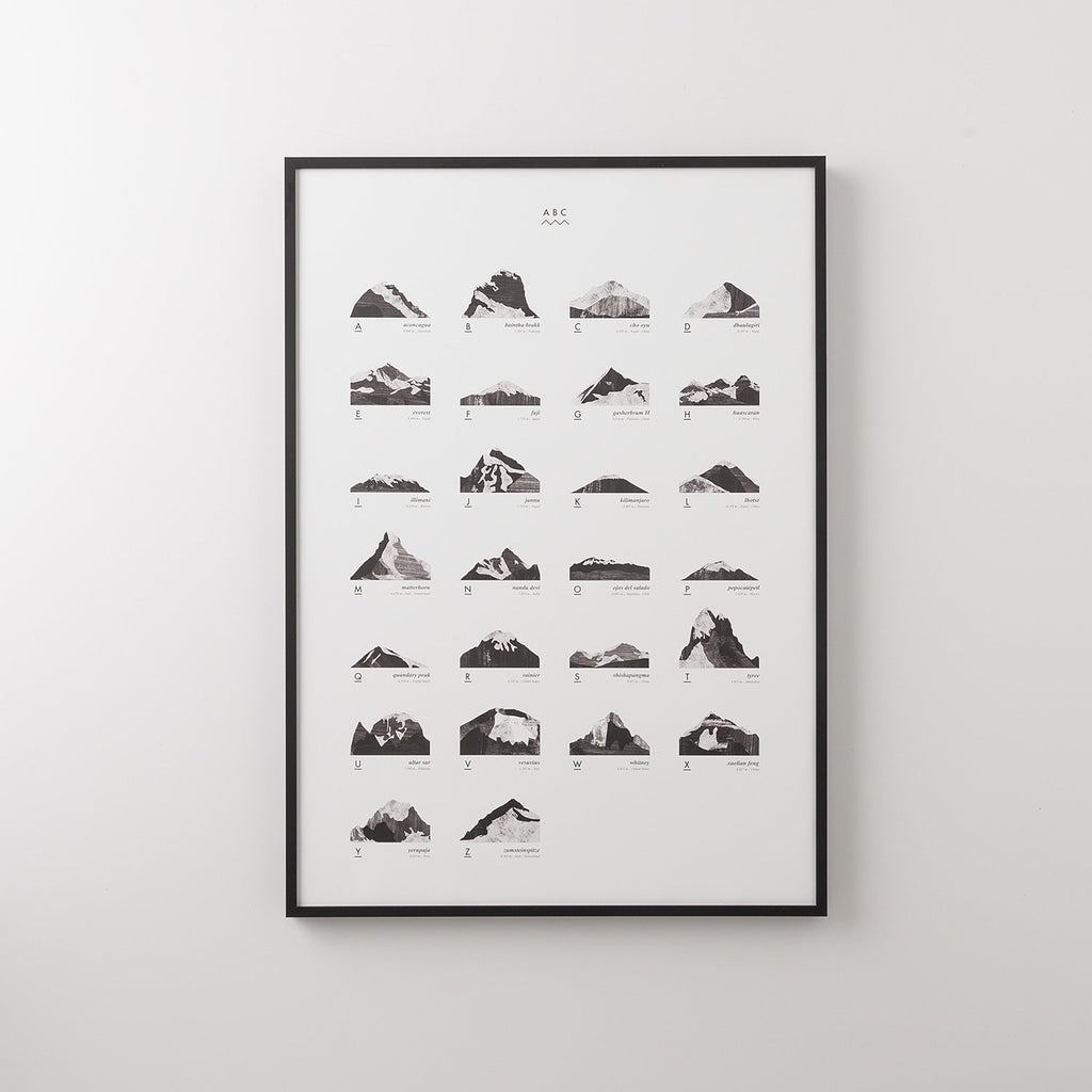 Mountains ABC Print