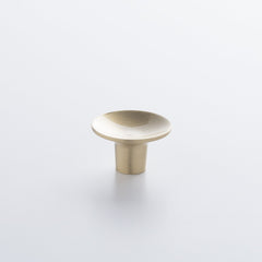 Dish Knob - Natural Brass