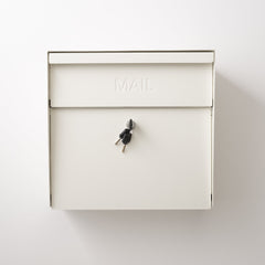 Locking Mailbox - Natural White