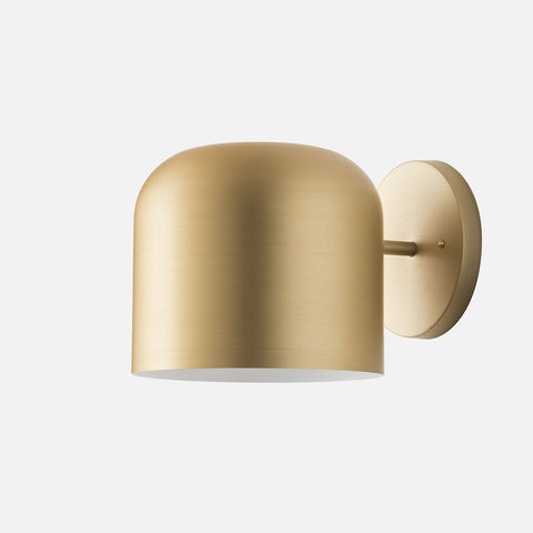 Wall sconces wall lighting fixtures schoolhouse donna sconce gold anodized aloadofball Image collections