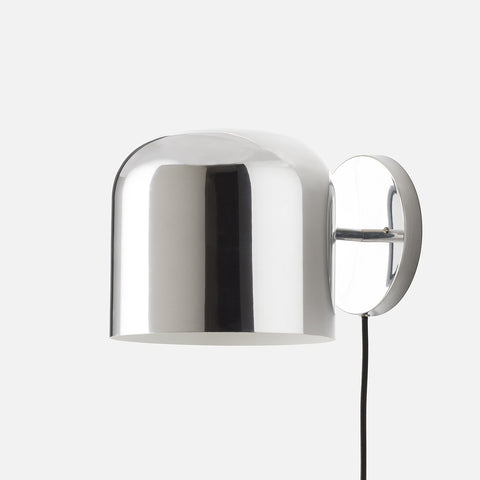 lighting sconces wall. Donna Plug-In Sconce - Polished Aluminum Lighting Sconces Wall