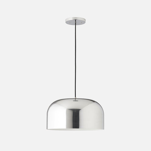 Pendant lights mid century modern ceiling fixtures schoolhouse donna pendant 17 polished aluminum aloadofball Image collections