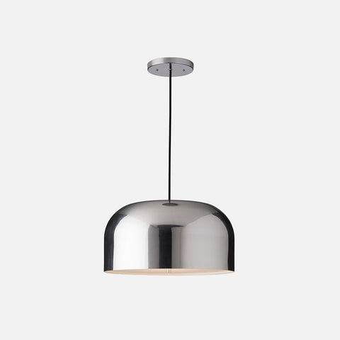 Pendant lights mid century modern ceiling fixtures schoolhouse donna integrated led pendant 17 polished aluminum aloadofball Gallery