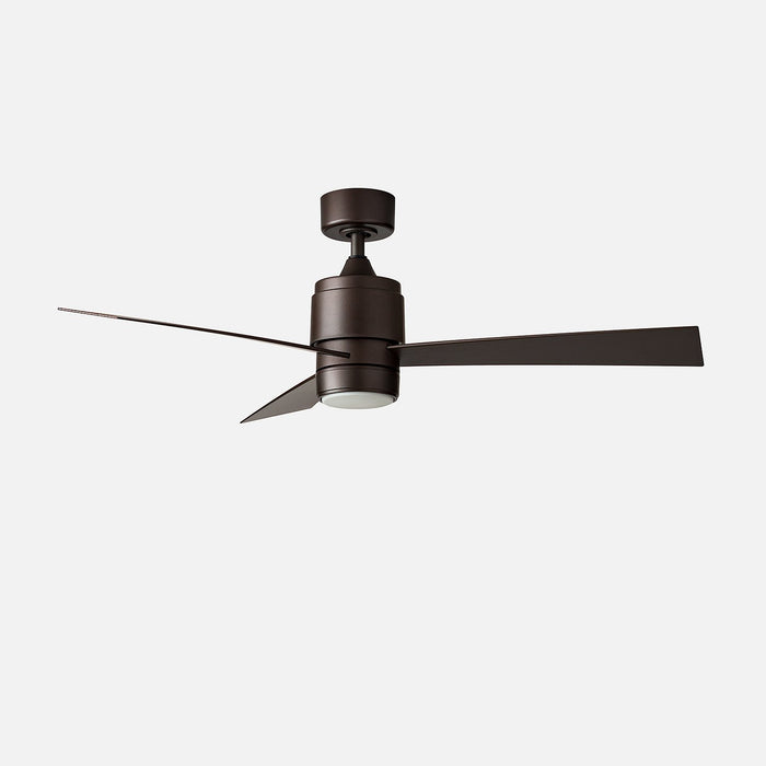 Zonix 52 Quot Led Ceiling Fan Matte Gray Schoolhouse