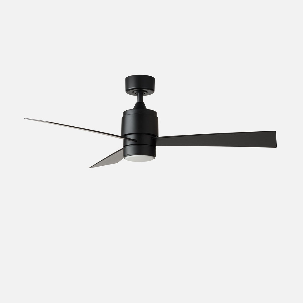 Zonix 52 led ceiling fan matte black schoolhouse zonix 52 zonix 52 aloadofball Choice Image
