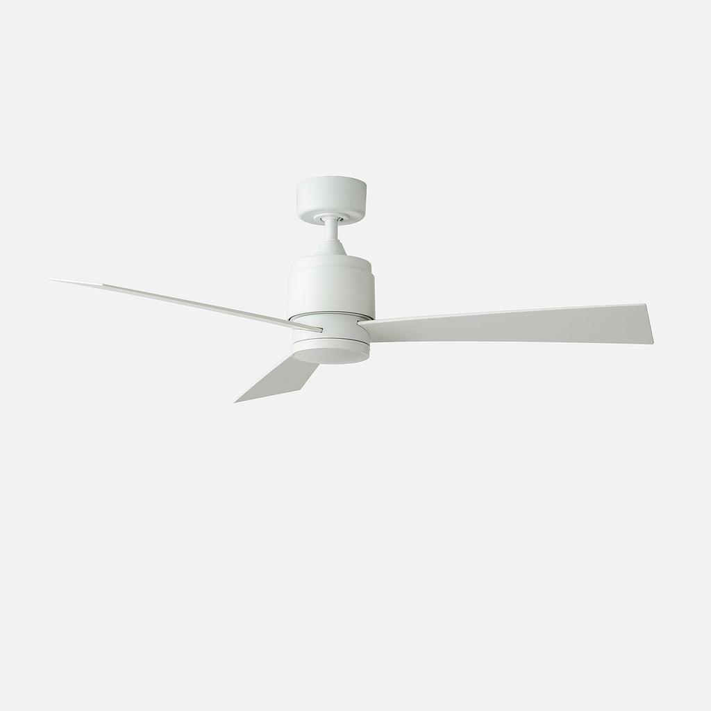 Zonix 52 led ceiling fan matte white schoolhouse zonix 52 aloadofball Choice Image
