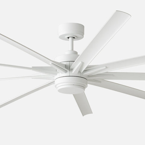 Odyn 84 led ceiling fan matte white