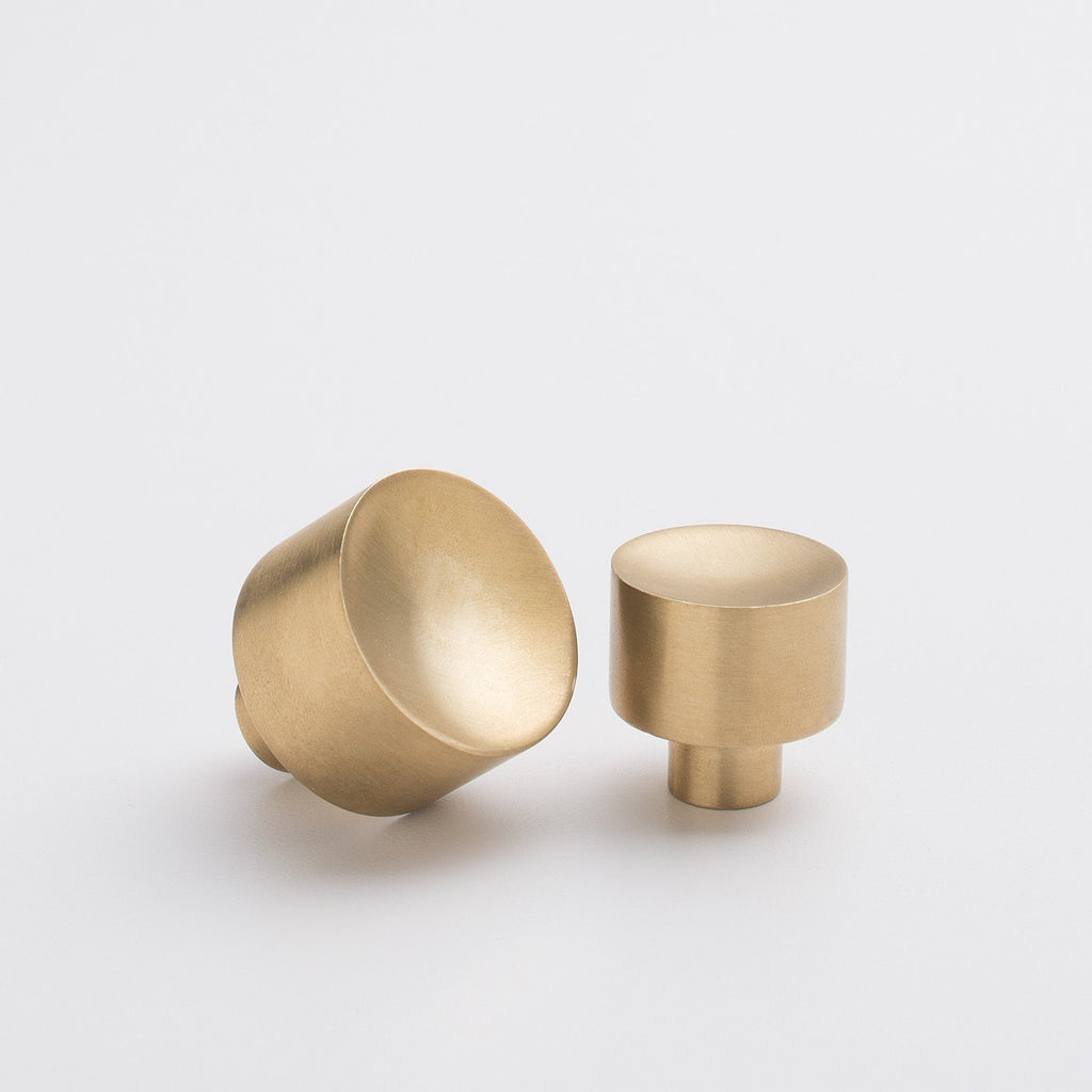 Mid Century Knob - Natural Brass | Schoolhouse Electric
