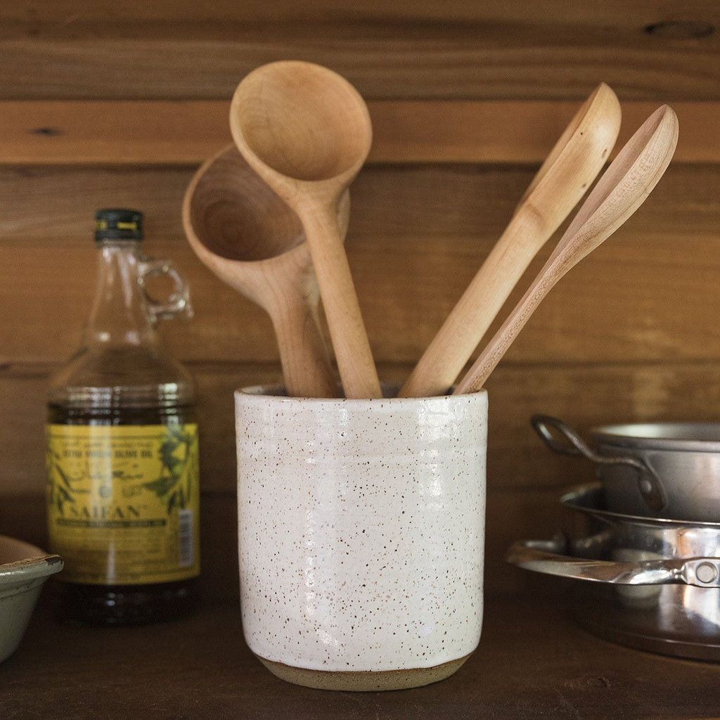 Speckled Stoneware Crock Schoolhouse