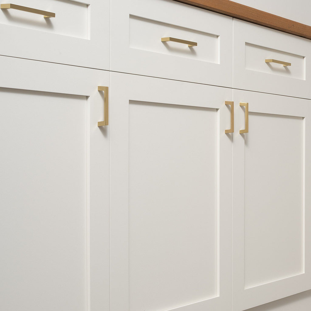 Greenwood Pull - Natural Brass   Schoolhouse