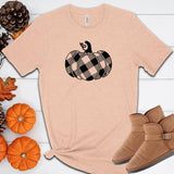 Plaid Pumpkin Fall Halloween T Shirt