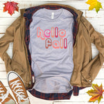 Hello Fall Halloween T Shirt