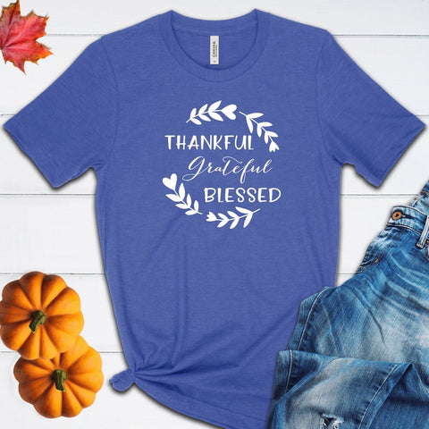 Thankful Grateful Blessed Fall Halloween T Shirt