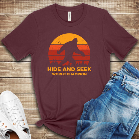 Big Foot Hide and Seek World Champion T Shirt