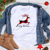 Plaid Reindeer T Shirt