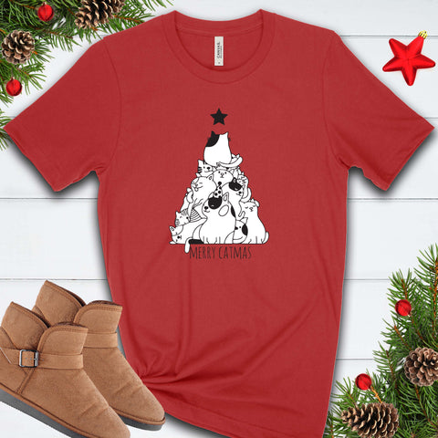 Merry Catmas Tree T Shirt