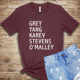 Grey's Anatomy Cast T Shirt