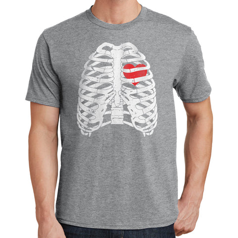 Skeleton Heart T Shirt