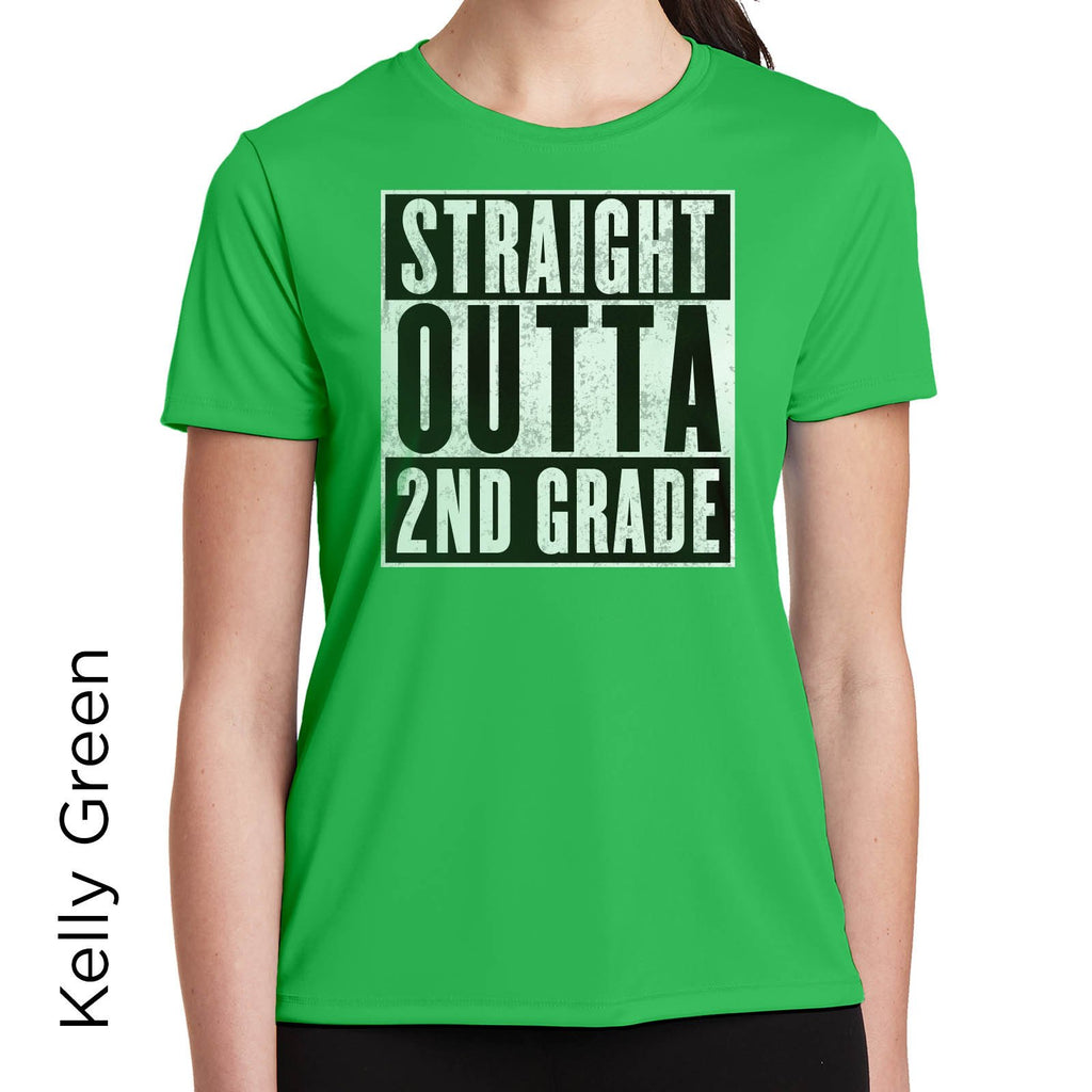 Straight Outta 2nd Grade Graphic T-Shirt 1095