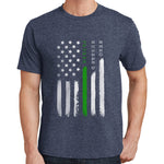 Hero, Husband,Father - Thin Green Line T Shirt