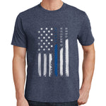 Hero, Husband, Father - Thin Blue Line T Shirt