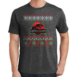 2264 - Jurassic Park Santa Claws Ugly Christmas Shirt