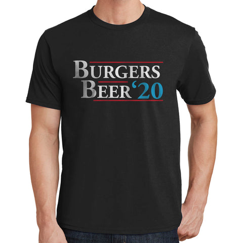 Burgers & Beer For President 2020 T Shirt