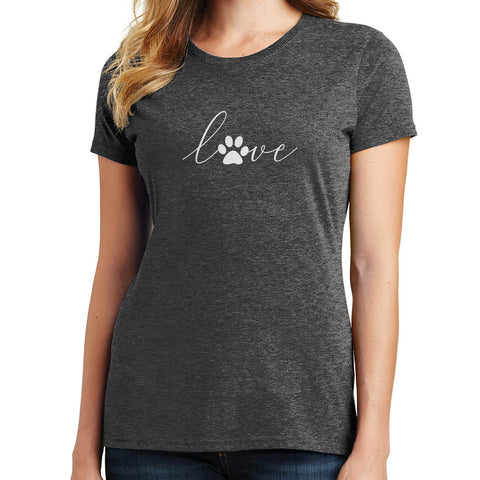 Love Paw Print T Shirt