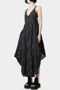 139DEC | SS20 Women - V-Neck Draped Stripe Dress
